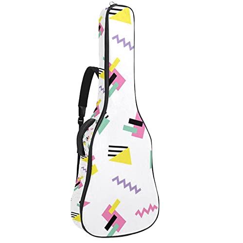 Paquete de guitarra acústica para principiantes, tamaño completo, con tapa de abeto, corte de guitarra acústica, bolsa geométrica de 108,9 x 42,8 x 11,9 cm