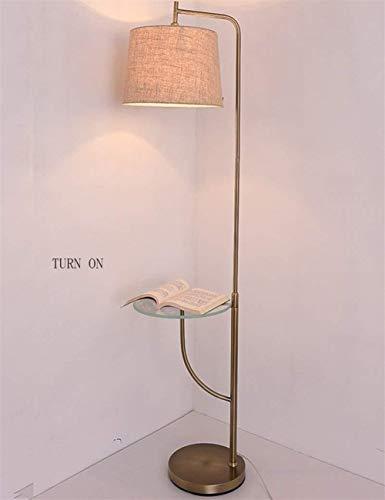BJLWTQ Lámpara de pie, Interruptor de pie luminarias de pie Puede Colocar Vertical Los Productos de Hierro de Tela Sombra Simple de pie luminarias de salón sofá Incluye Bombilla Luz para Leer,