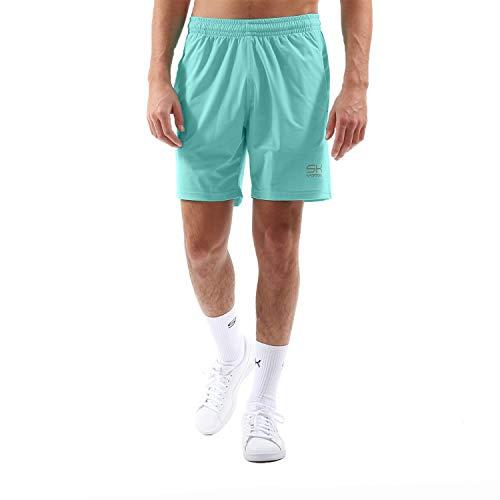 Sportkind - Pantalones cortos de tenis para hombre, todo el año, color verde menta, tamaño S (= Gr. 46)