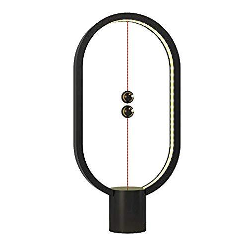 Heng Balance Lampe Magnétique, Lampe de Table Led, Alimenté par USB Lampe Décorative pour Chambre à Coucher, Couleur Noir