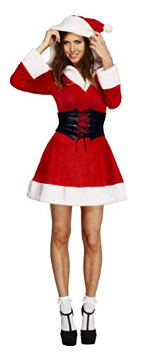 Smiffys Costume Fever de Santa avec capuche, robe avec, Jupo