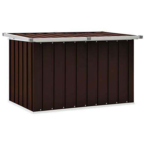 vidaXL Gartenbox Auflagenbox Kissenbox Aufbewahrungsbox Truhe Box Gartenmöbel Gartenkasten Gartentruhe Werkzeugkasten Braun 109x67x65cm