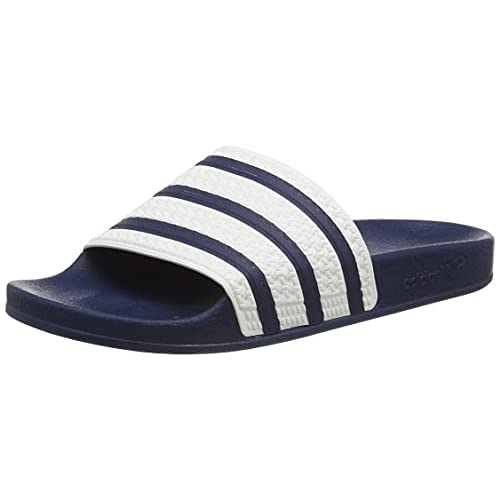 Adidas Originals Adilette - Ciabatte da uomo, Blu (blu, bianco, blu.), 47 1/3 EU