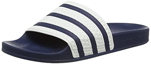 adidas Adilette, Ciabatte Unisex Adulto, Blu Navy, Bianco, Blu Navy, 44.5 EU