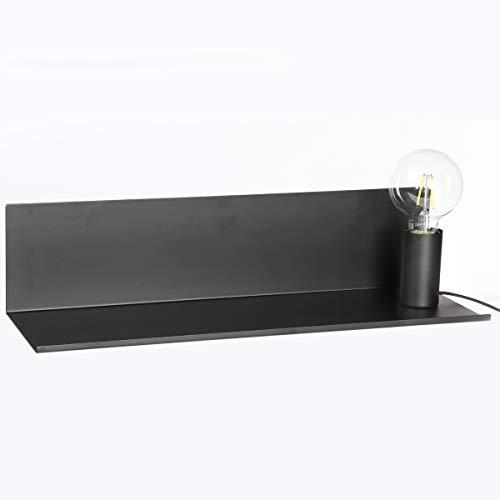 2 en 1 Lampe magnétique + Étagère - Style contemporain chic - Coloris NOIR