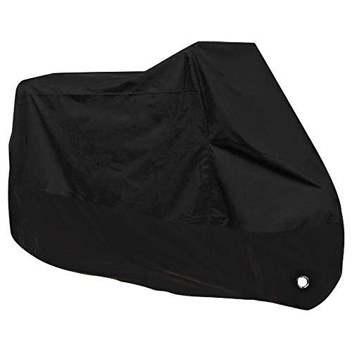 Wellz バイクカバー 420D 超厚手 Lサイズ 撥水加工 裏面防水加工 UVカット 鍵穴付き 盗難防止 耐熱 収納バッグ付き