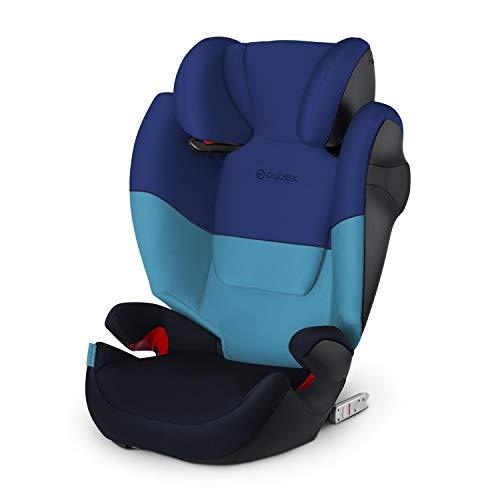 Cybex Silver Solution M-fix 519001117 Silla de Coche, Grupo 2/3, para Niños, para Coches con y sin Isofix, Colección Color 2021, Azul (Blue Moon)