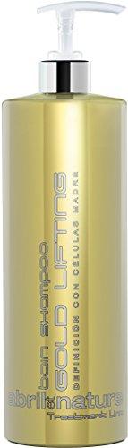 abril et nature | Rizos perfectos GOLD LIFTING | Champú Profesional de Peluquería para pelo rizado y ondulado | Tratamiento para el Cabello Vegano | Reparación y antifrizz – 1000ml
