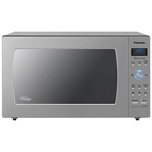 Panasonic Countertop / Built-In Microwave Oven with Cyclonic Wave Inverter Technology and 1250W of Cooking Power - NN-SD975S - 2.2 Cu. Ft (Stainless Steel / Silver) (Renewed)