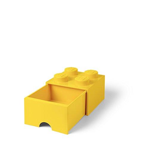 Lego 40051732 Storage Brick 4 mit Schubladen, Plastik, Gelb, 25 x 25,2 cm