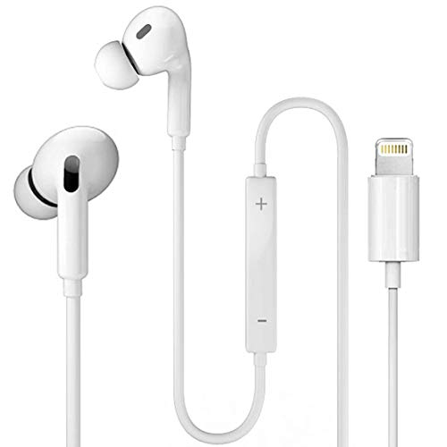 Lightning Connector Earphone Earbuds Wired Headphones Headset with Mic and Volume Control,Compatible with Apple iPhone 12/SE/11 Pro Max/Xs/XR/X/7/8/8 Plus and Play[Apple MFi Certified] All iOS System