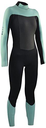 Kounga Pro 4.3 Traje para Surf y Buceo, Mujer, Negro/Azul Claro, M