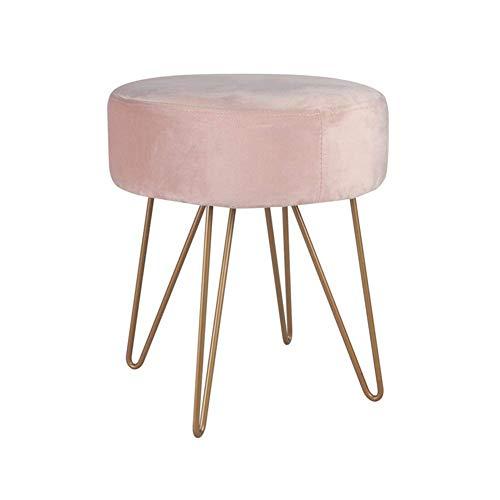 TT&D kruk voor kaptafel, creatief, modern, minimalistische lijn, veelzijdig inzetbaar, sofa, kruk, kleur: roze, maat: L L Gtzqang4557r-5