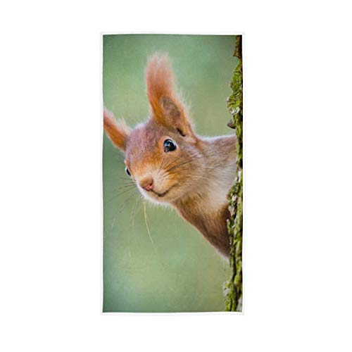 YUELAI Soft Bath Towel Absorbent Large Hand Towels Multipurpose for Bathroom, Hotel, Gym and Spa 30'x15' Animals In Tree