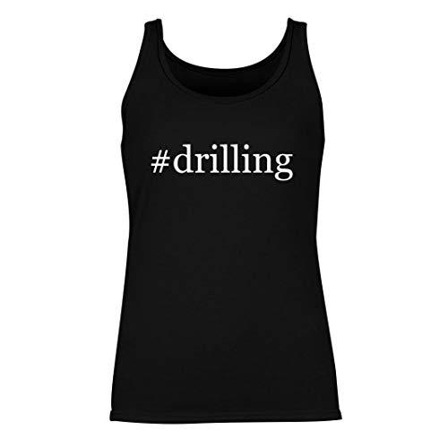#drilling - Women's Hashtag Summer Tank Top, Black, Small
