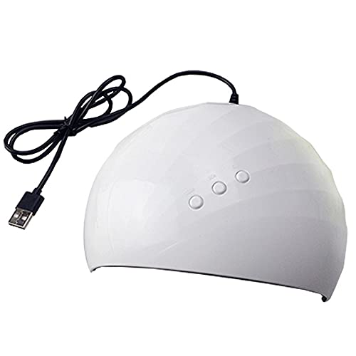 Lámpara De Secado De Uñas Portátil, 12 Cuentas De Lámpara LED y Fuente De Luz Ultravioleta Dual, Pantalla LCD, Utilizada para Secar y Curar Pegamento De Esmalte De Uñas