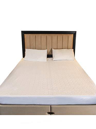 Zaglays Protector de colchón impermeable para cama doble pequeña, 120 x 190 cm hasta 30 cm de profundidad, falda elástica, transpirable, antialérgico, a prueba de ruido y antiácaros (doble pequeño)