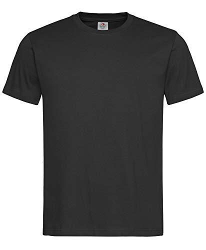 Stedman 3er-Pack original Classic-T Organic: Herren-T-Shirt in Premium-Qualität aus zertifizierter Bio-Baumwolle mit Rundhalsausschnitt, Schwarz, Größe L