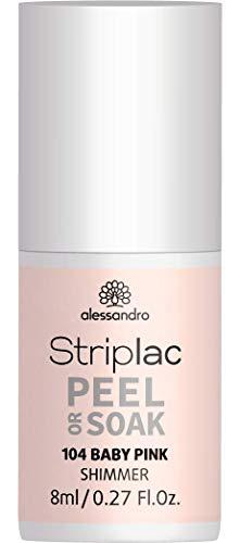 alessandro Striplac Peel or Soak Baby Pink – LED-Nagellack in natürlichem Rosé – Für perfekte...