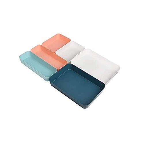 HOTOOLME Lot de 6 tiroirs de rangement pratiques pour couverts - Pour maquillage, cosmétiques, bureau, salle de bain, cuisine