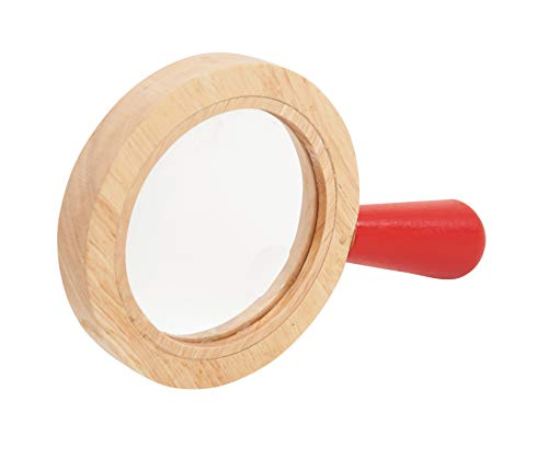 TickiT 72225 Lupa de mano con marco de madera