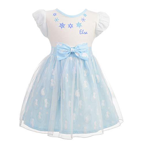 Lito Angels Baby Mädchen Prinzessin ELSA Kleid Kostüm Weihnachten Halloween Party Verkleidung Karneval Cosplay 12-18 Monate