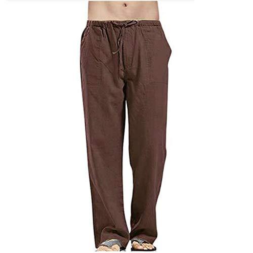 Herren Leinen Hose mit großen Taschenhose Herren Cargo Pants Herren Cargo kurz Slim fit dünn Jogger Camouflage Regular Pants