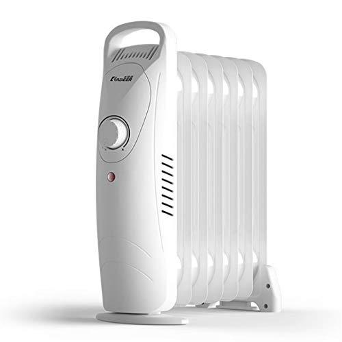 BAODI Radiador de Aceite Calentador de radiador Relleno de Aceite Delgado eléctrico portátil con configuración de termostato de Temperatura Ajustable y Corte de Seguridad