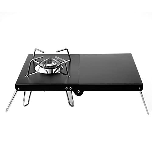 Zuoox Mesa plegable para camping al aire libre con protección contra el calor, mesa plegable (negro)
