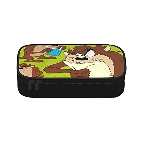 Tasmanian Devil Looney - Bolsa de maquillaje portátil de viaje para mujeres, bolsa organizadora de maquillaje con cremallera interior lavable impermeable