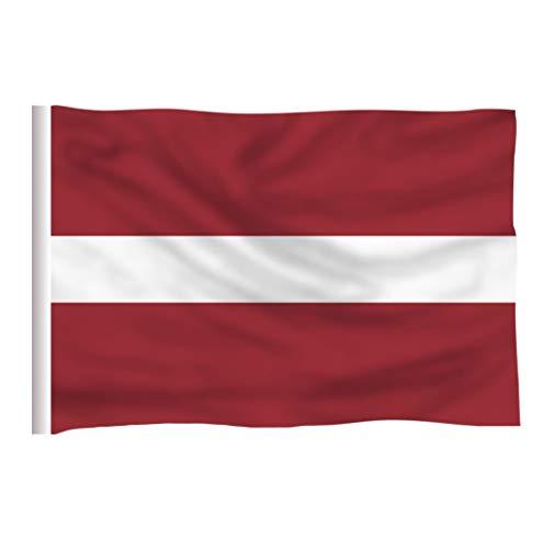 ZAVIER Lettland Country Flag 3x5 FT Printed Polyester 90x150 cm Lettischen National Banner Fahnen & Banner (Size : 90x150 cm)