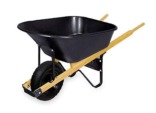 Wheelbarrow, Poly, 6 Cu. Ft, Pneumatic
