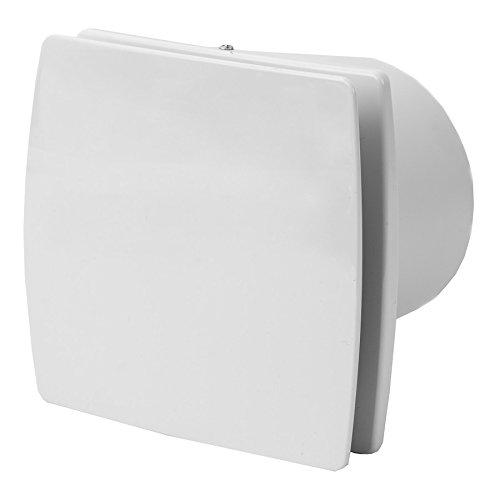 100mm Bad-Lüfter mit Feuchtesensor und Timer , Ventilator , Leise , Weiß