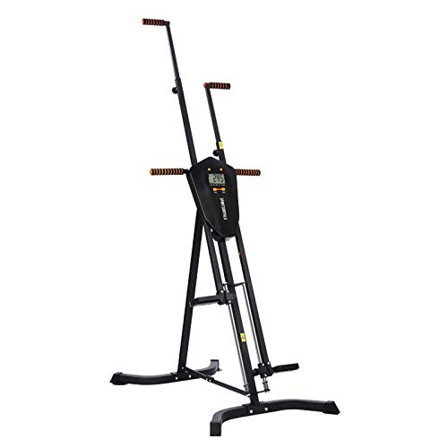 Sportsroyals Vertical Climber, Folded Climbing Cardio Exercise Equipment Full Body Workout for Women Men, Stair Climber with 5 Height Adjustable and Digital Monitor(Max Capacity 300 Lbs)