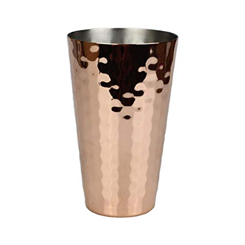 GPWDSN Cubo de Hielo Grueso, Martillo Copa de Cobre Copa de Mula Cóctel Creativo Copa de Barra de Acero Inoxidable Copa de Vino de Metal Copa cónica de Oro Rosa 350 ml para Fiestas, Bar y Bar en casa