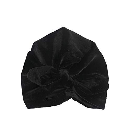 Culer Kinderkopfbedeckungen Reversed Turban Kopftuch Hut mit Kapuze Kaninchenohren Verknotete Indian Hut für Baby-Kind (Schwarz)