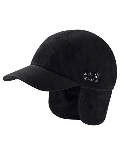Jack Wolfskin Storm Lock Blizzard Windproof Performance Fleece Baseball Cap, Unisex-Erwachsene, schwarz, Medium