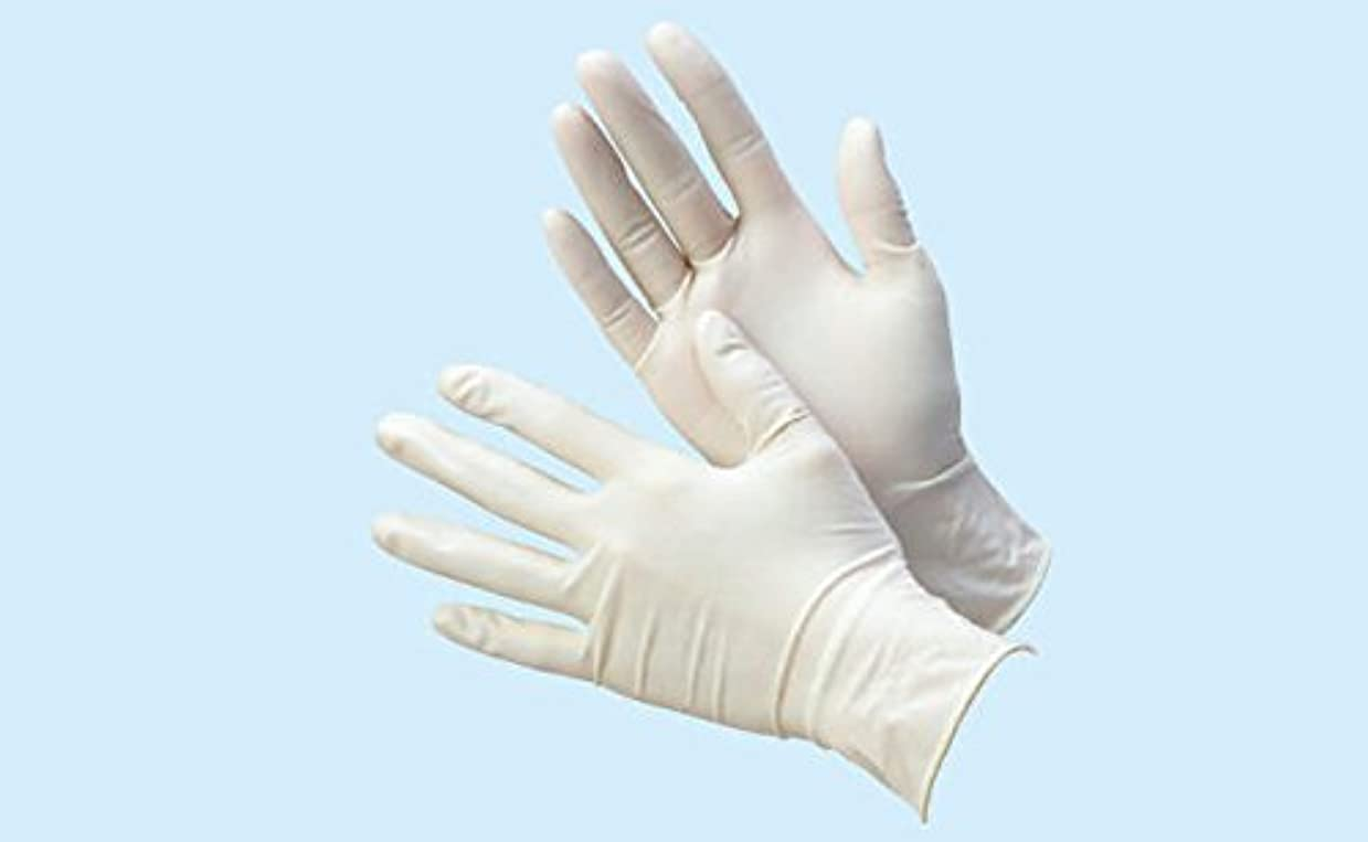 親指最適フォーマル天然ゴム極うす手袋 パウダー付 100枚入 S 08866