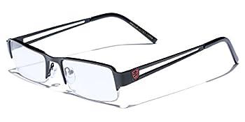 Non-Prescription Rimless Frame Clear Lens Rectangular Fashion Eye Glasses for Women Men  Small Face