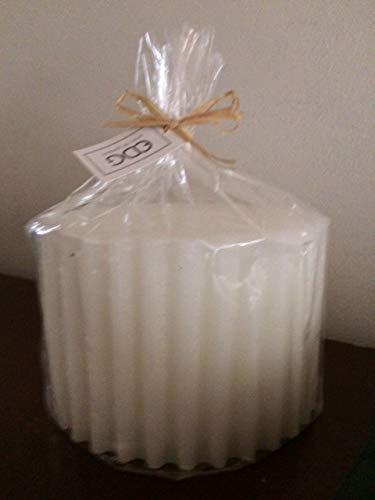 WHITE STRIPED CANDLE EDG 10HX15 1520GR