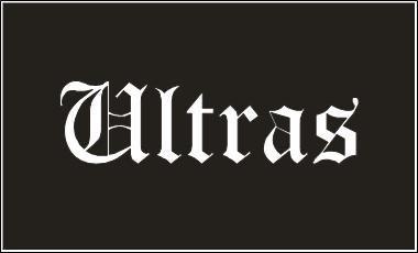 Ultras Fahne Flagge schwarz Grösse 1,50 x 0,90m