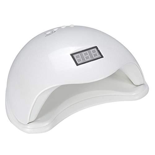 Lámpara de fototerapia para manicura, UV lámpara de uñas gel con temporizador con LED pantalla digital, lámpara de uñas doble fuente luminosa para salón de belleza (EU)