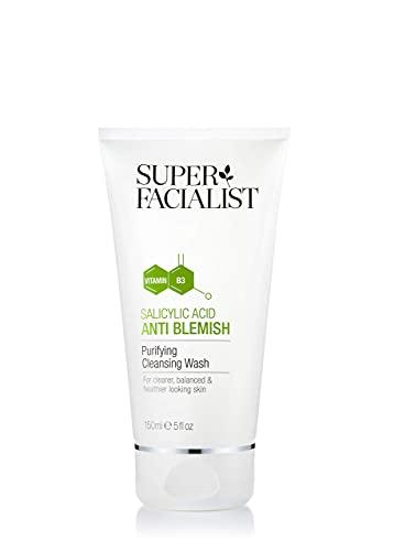 Super Facialist, Salicylic Acid Anti Blemish Purifying Cleansing Wash, Leaves Skin Balanced & Healthier, 150ml