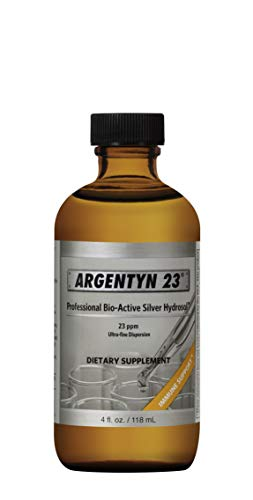 Argentyn 23® Professional Formula Bio-Active Silver Hydrosol for Immune Support* – 4 oz. (118 mL) Twist Top Bottle – Colloidal Silver – Colloidal Minerals