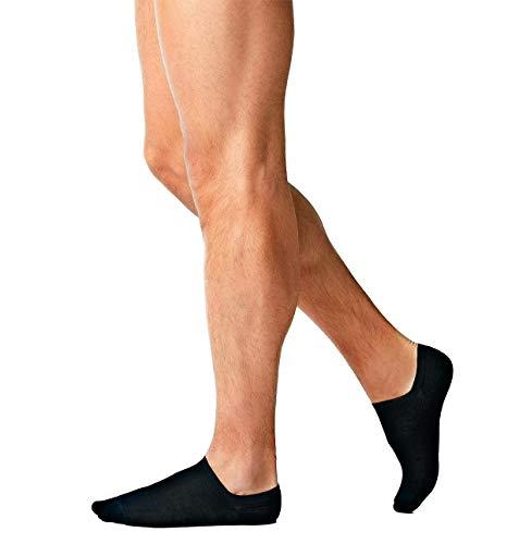 Intimitaly® 6 Paia di Fantasmini In Filo Di Scozia Uomo, Calzini Sneakers Corti Con Taglio Basso in Cotone 100% Marchio Qualità Abbigliamento Intimo Moda di Uomo Ufficio (Blu, 43-46)