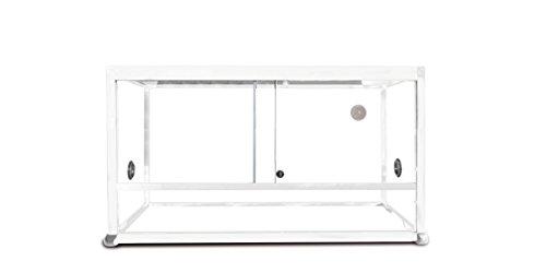 REPTILES PLANET ALLUMINIO Elegance - Terrario per rettile/anfibio, 80 x 45 x 45 cm,...