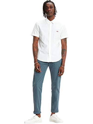 Levis SS Battery HM Slim Camicia, Multicolour (White X 0000), Large Uomo