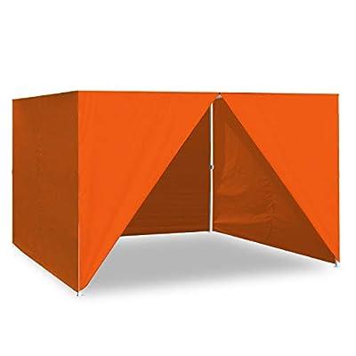 Keymaya 10x10 Canopy Sidewalls Pop up Tent Sides, 4 Removable Side Panels Only (Orange)