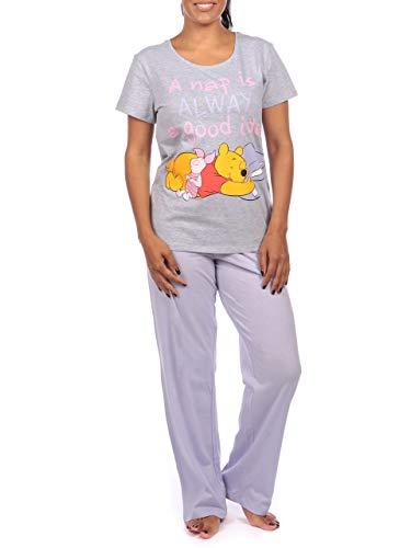 Disney Pijama para Mujer Winnie The Pooh Gris Size X-Large