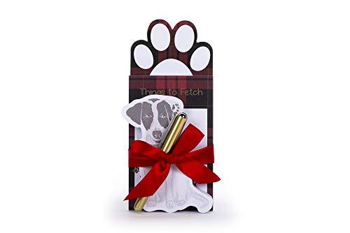 Tri-Coastal Design - Bloc de notas y bolígrafo, regalos de papelería con páginas de velcro (Check Dog).